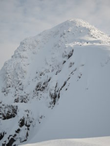 Stob Coire Nan Lochan summit and last pitch on Dorsal Arete