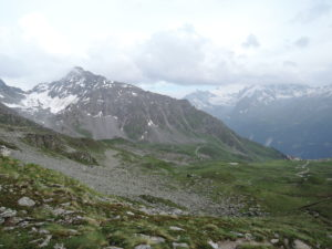 Col du Mont Gele (left) -Cabane du Mont Fort (middle) - Les Ruinettes ( right)