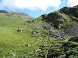 Point 2340m - junction to Hotel Weisshorn and Forcletta Pas