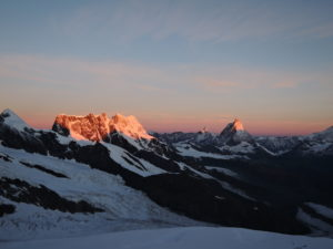 Sunrise from the Scholle - Pollux - Breithorn - Matterhorn