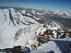 Looking back on the West ridge from the summit.