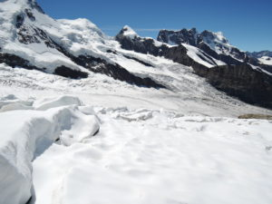 Monta Rosa glacier at mid day