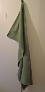 Sunland Microfiber Towel hanged by the loop