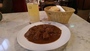 Beef Goulash at Kafe Alt Wien