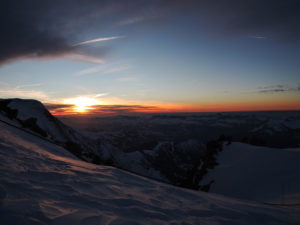 Sunset from Cosmique Hut