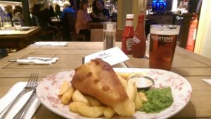 Fish and Chips at The Duchess of Cambridge Pub