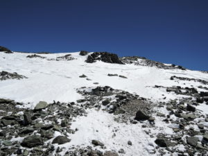 Last slope before summit