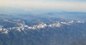 Carpathians aerial view