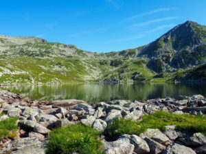 Lake Bucura - and Peleaga Peak