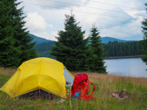 Camping at Oasa Lake